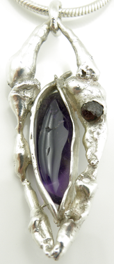 Amethyst and Garnet Pendant