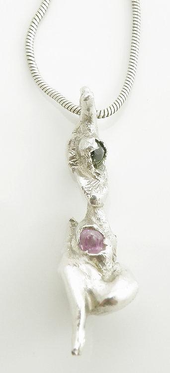 Organic Ruby Sapphire Pendant