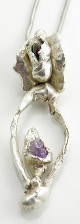 Amethyst & Garnet Pendant