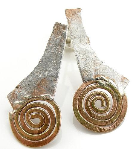 Textured Spirals Earrings