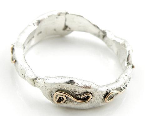 Organic Gold Spirals Ring