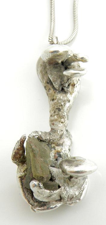 Mushrooms on Rock Face Pendant