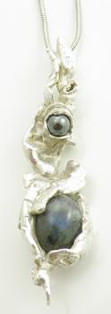 Labradorite Hematit Pendant