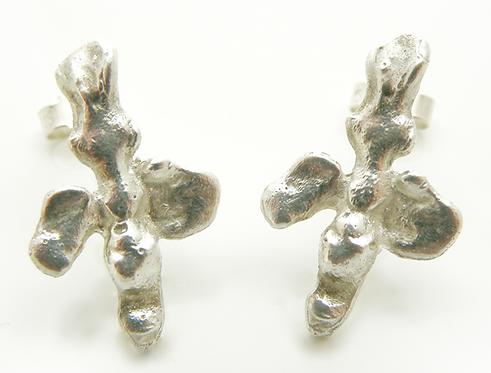 Organic Cross Earring