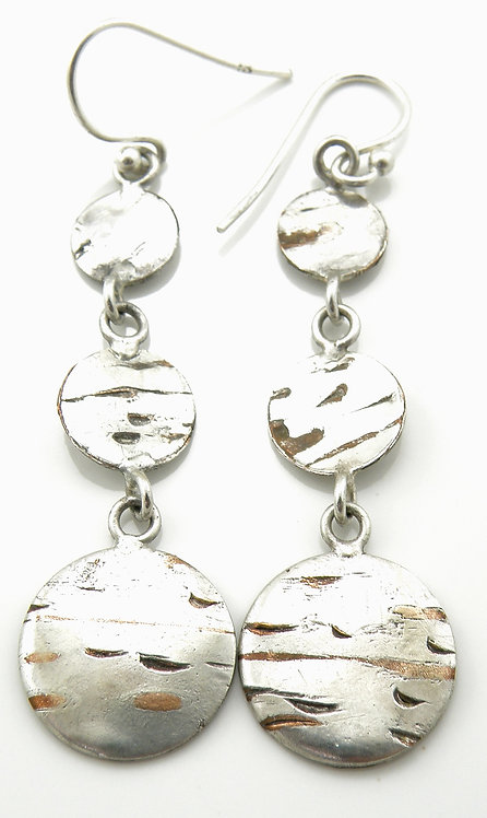 Round Mokume-Gane Earrings