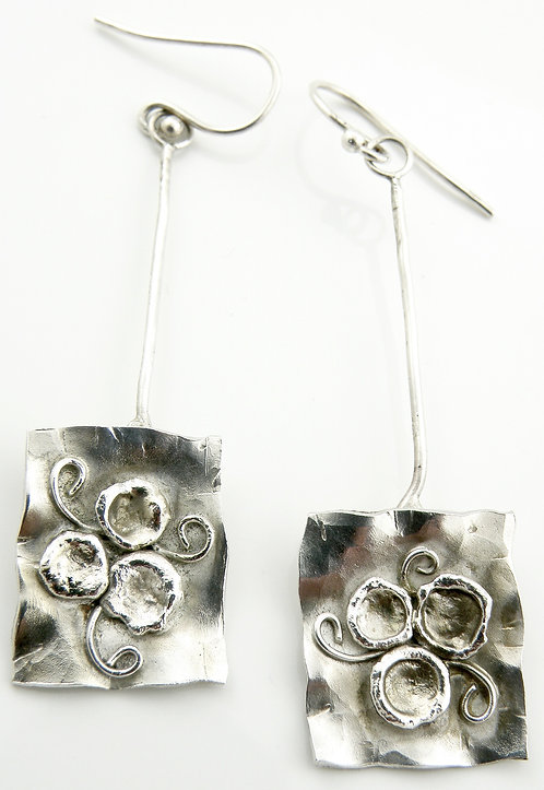 Textured Articulated Spirally Earrings