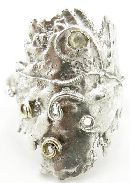 Textural Diamond Ring