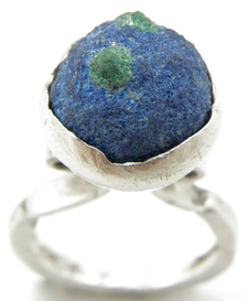 Azurite With Malachite Ring