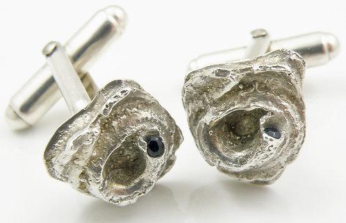Black Sapphire Shell Cufflinks