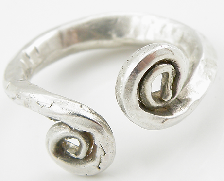 Forged Celtic Spiral Ring