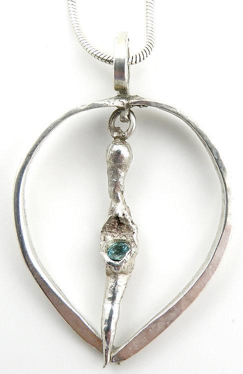 Oval Organic Emerald Pendant