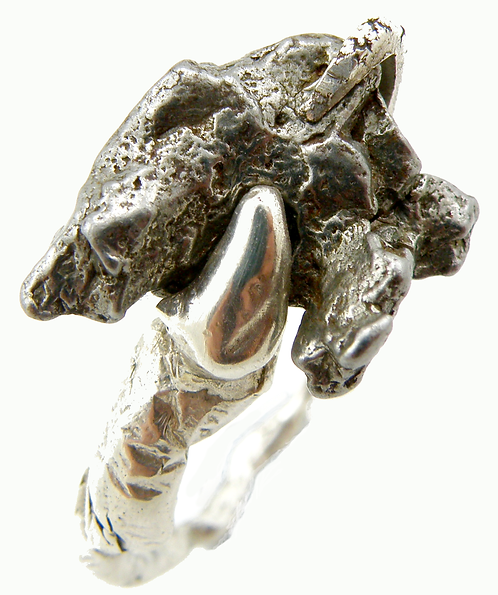 Nickel Iron Meteorite Ring
