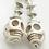 Thumbnail: Organic Skull Earrings