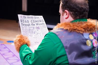 Goldilocks prop newspaper