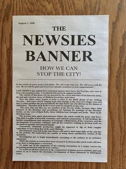 Newsies Banner