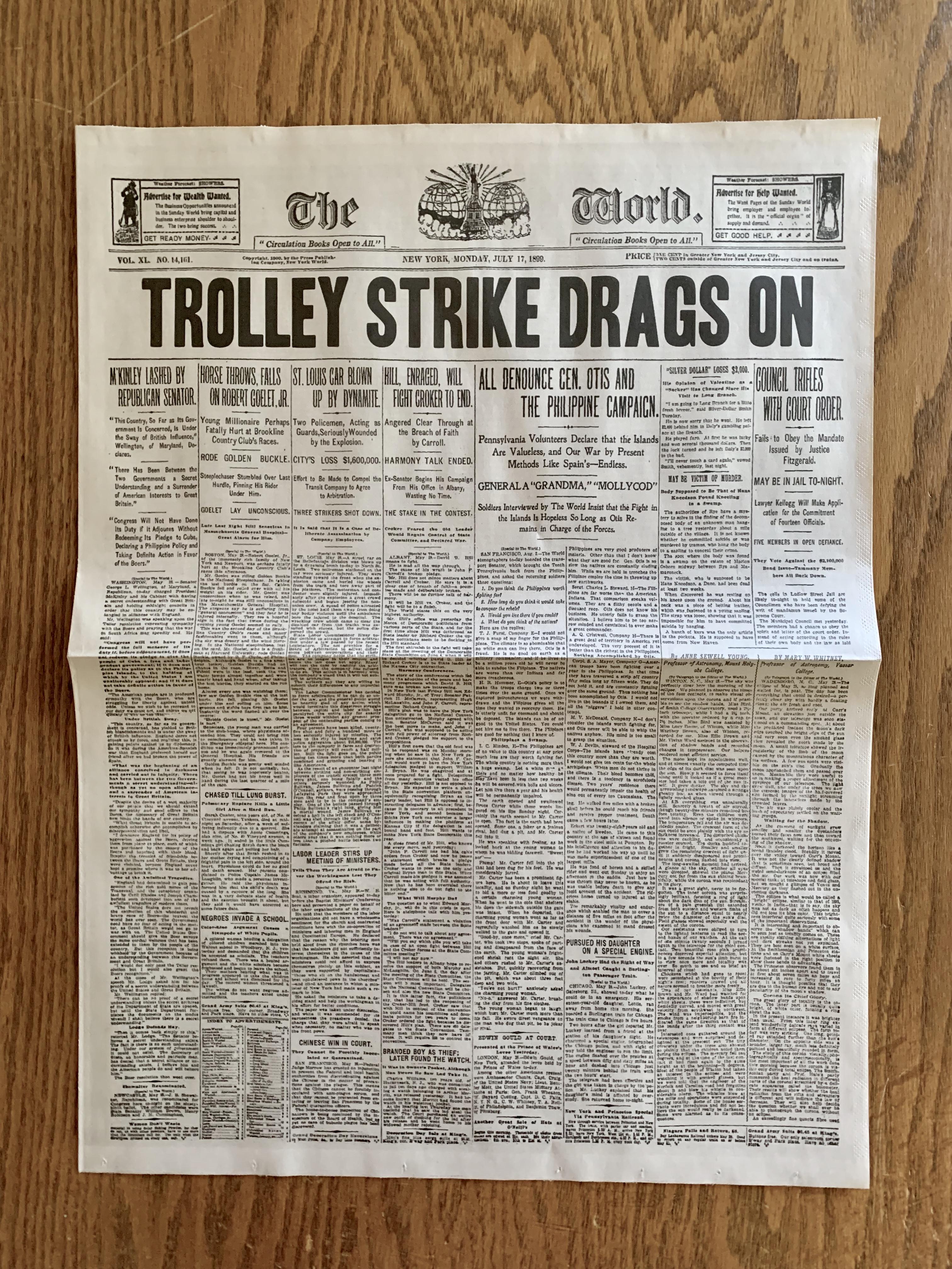 Newsies Newspapers Drags