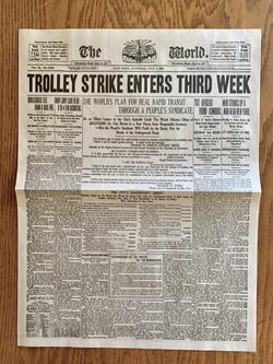 Newsies Newspapers 3rd