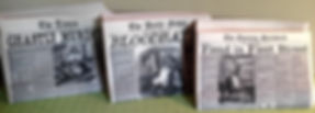 Sweeney Todd prop newspapers