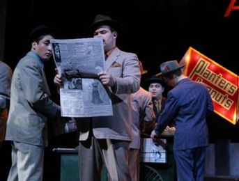 Guys and Dolls prop newspaper