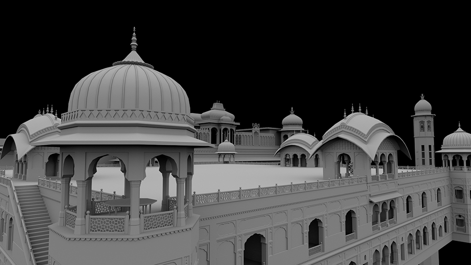 Middle East Temple Raw Model