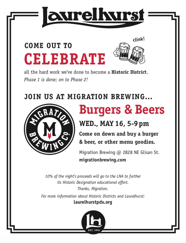 Celebrate Our Progress!  Burgers and Beer at Migration Brewing.