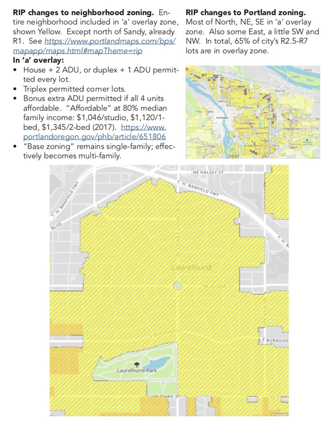 Handout on Residential Infill Project As Applicable To Laurelhurst