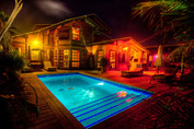 Swimmingpool by night