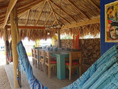 palapa in garden with BBQ