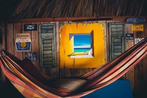 Palapa with hammocks
