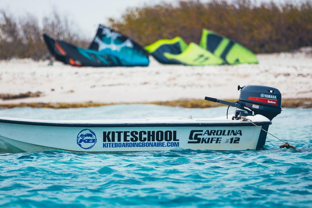 Kiteboarding Bonaire - Kitesurfing Bonaire - Boats