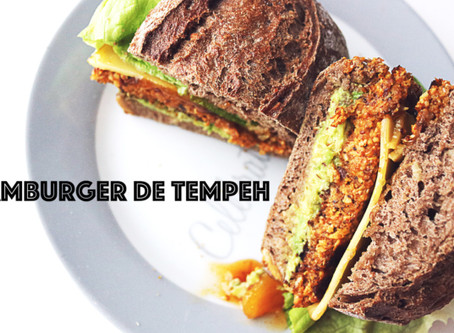 Hamburger de tempeh, cogumelos e abóbora