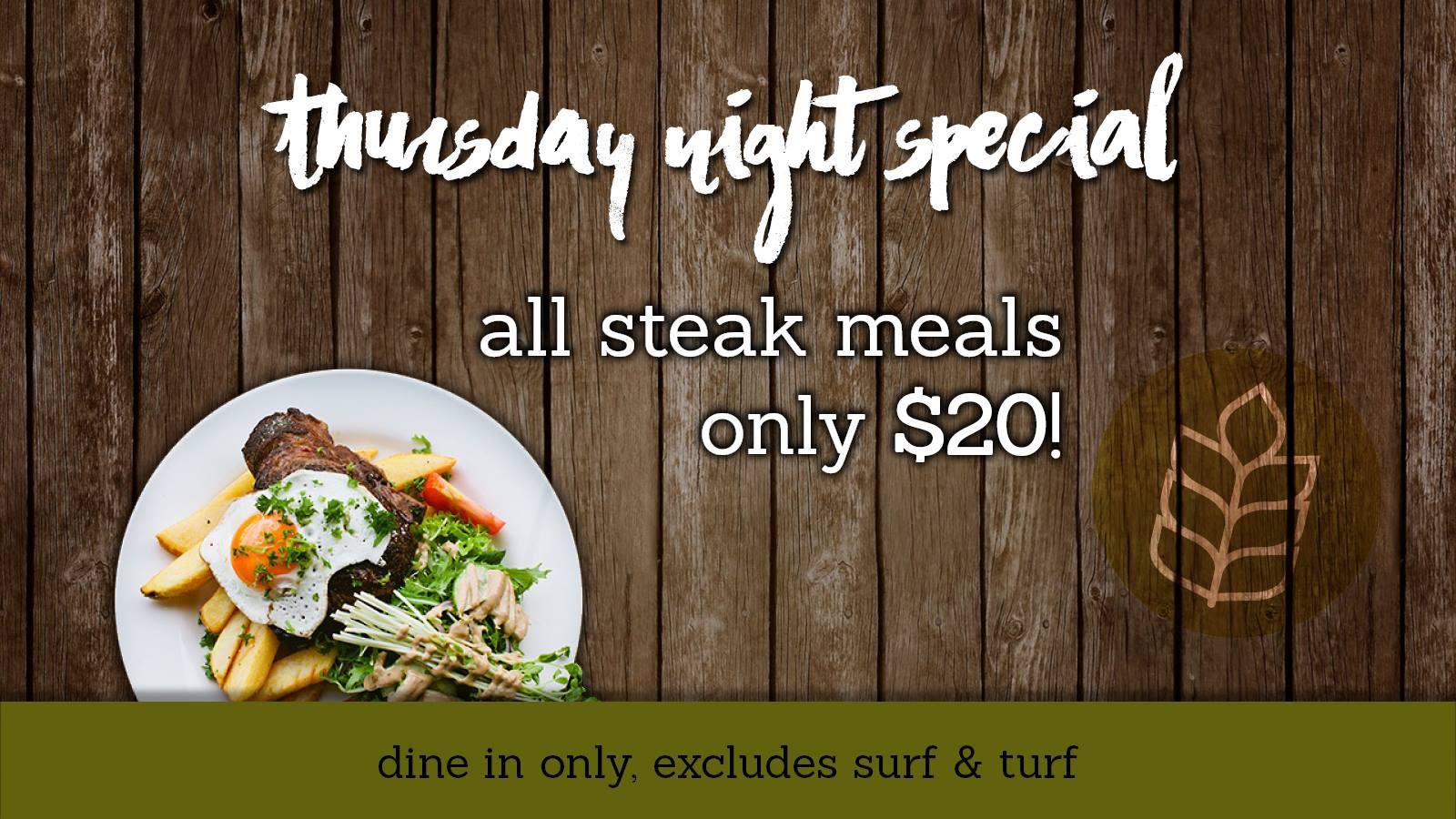 Thursday: Steak Night