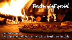 Tuesday: 2 for 1 Pizzas