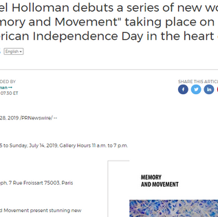 """Laurel Holloman debuts a series of new work in """"Memory and Movement"""""""