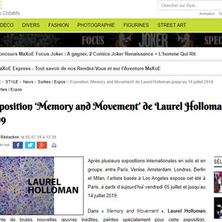 Style - Exposition 'Memory and Movement' de Laurel Holloman