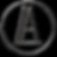 A.L.circle.logo.Black.metalic.transparen