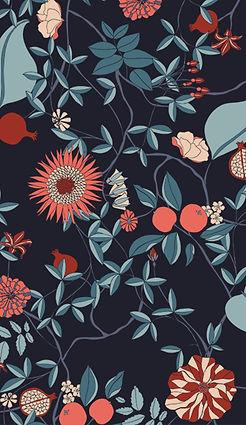 Dessin floral réalisé pour Orcanta