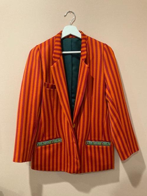 Wool Striped Blazer