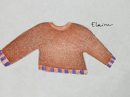 100% Mohair Brown Sweater
