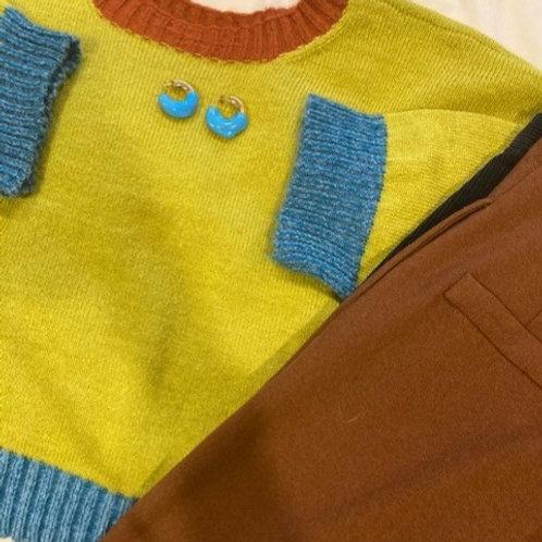 100% Mohair Green Sweater