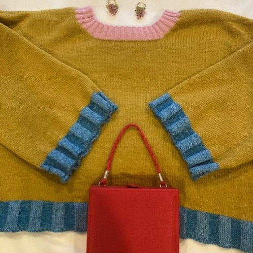 100% Mohair Honey Sweater