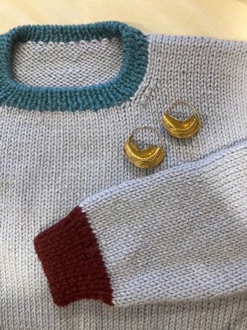 Alpaca Light Blue Sweater