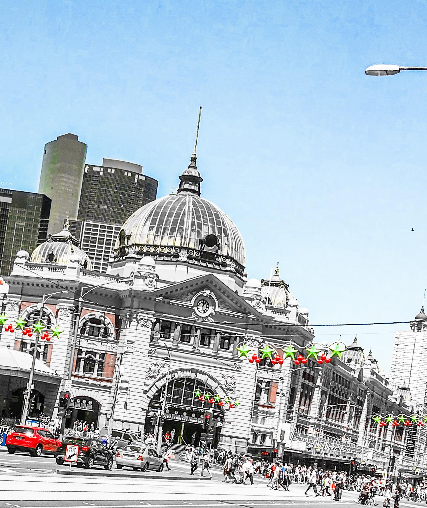 Flinders Street Station Xmas