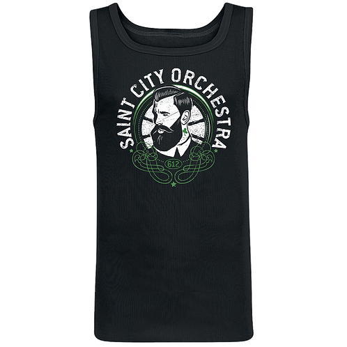 Beard guy tank top - Männer- black