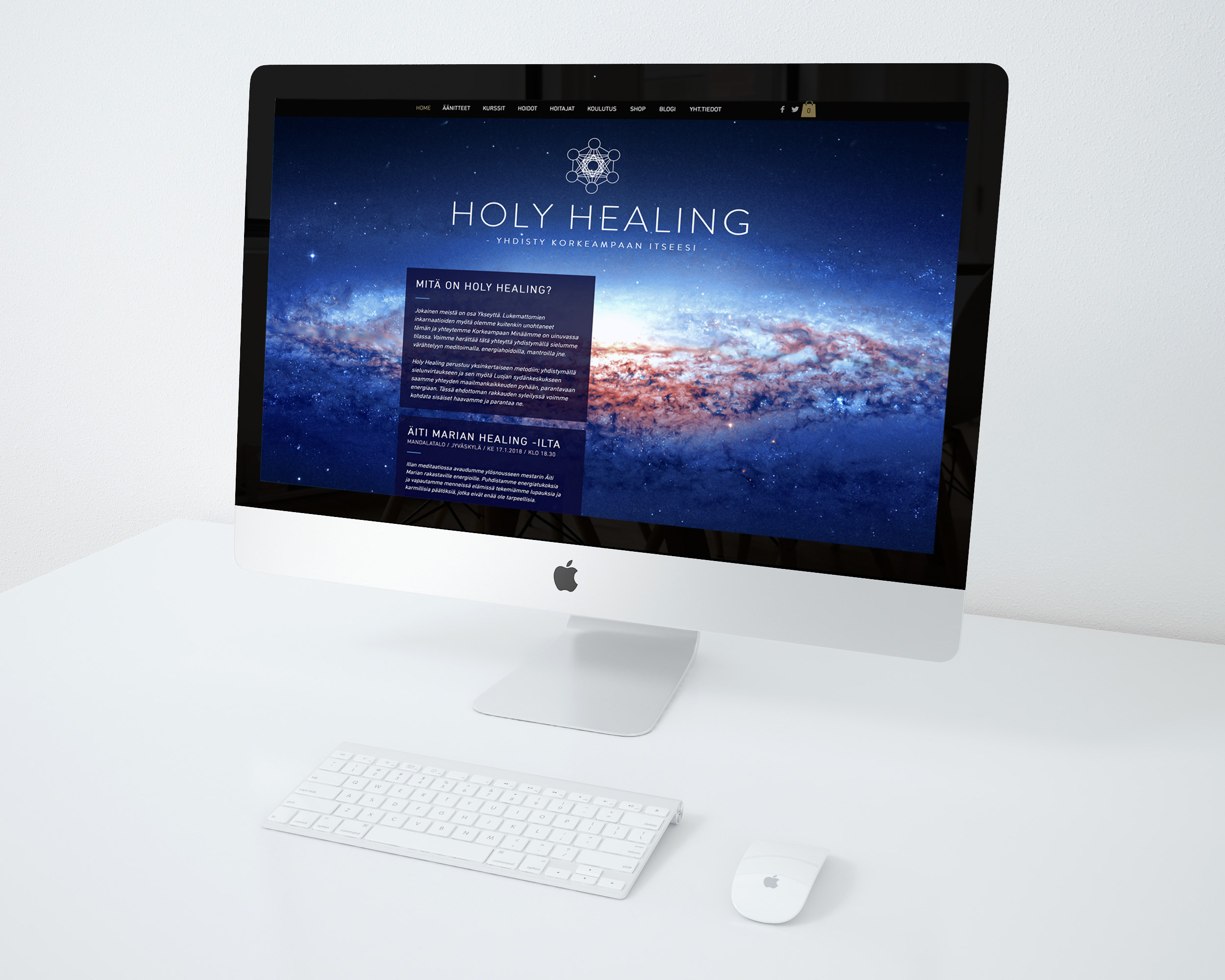 Holy Healing, logo, ilme, web-sivut