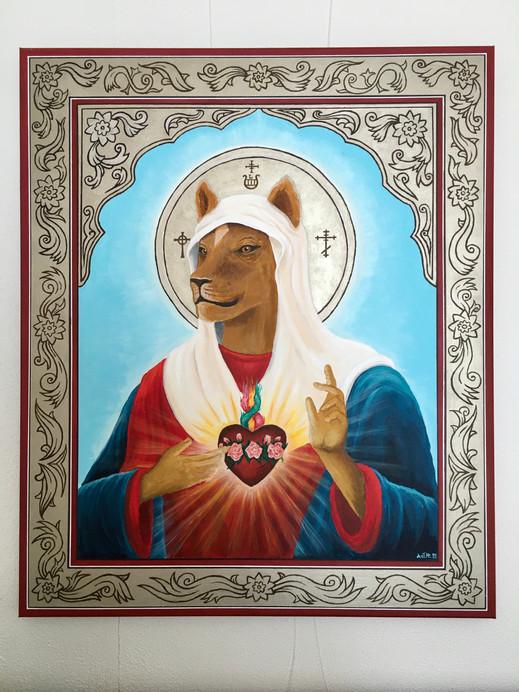 Pyhän Leijona Äidin ikoni