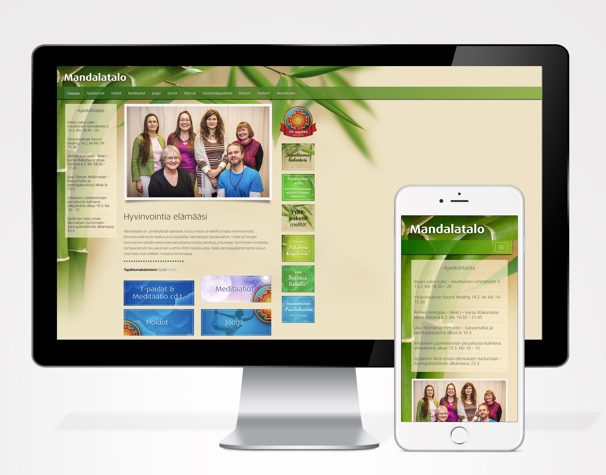 Mandalatalon ilme, logo, web-sivut