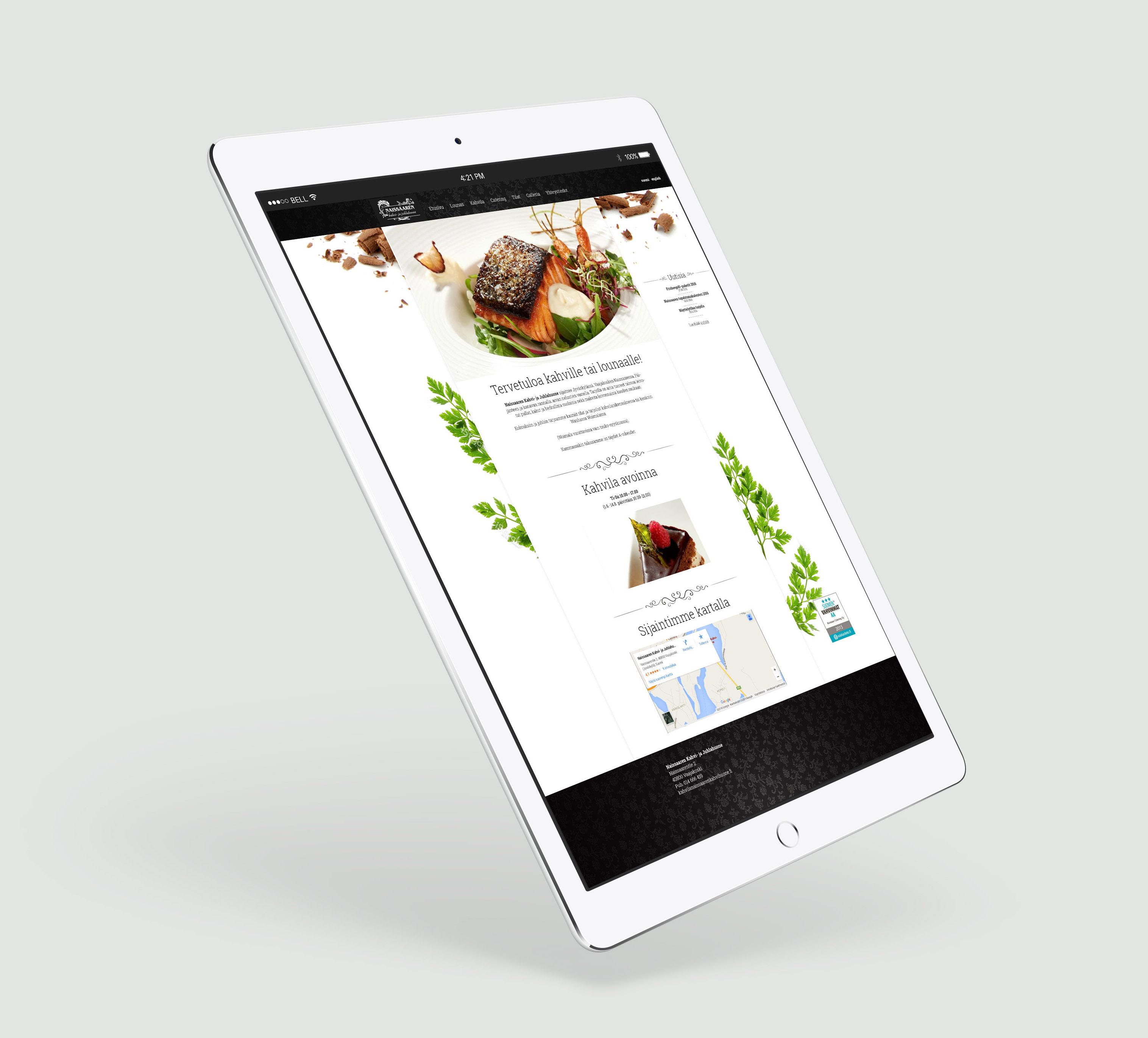 Naissaaren Kahvihuone - websivu