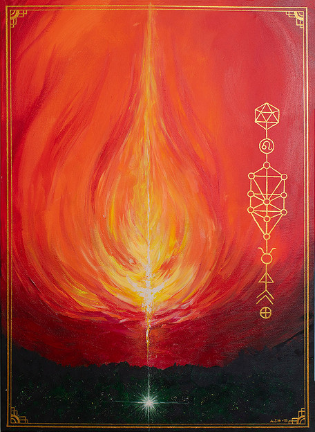 """Soul portrait """"Fire and Earth"""""""