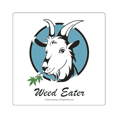 Weed Eater Square Sticker